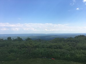 Pocono Mountains - The view from Big Pocono State Park at Camelback Mountain