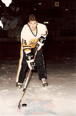 Merritt Centennials - Former player Bill Birks shown as a member of the Merritt Warriors