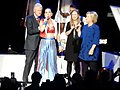 Bill Clinton, Katy Perry, Chelsea Clinton and Hillary Clinton At The I'm With Her Concert for Hillary Clinton at Radio City Music Hall (25105969049).jpg