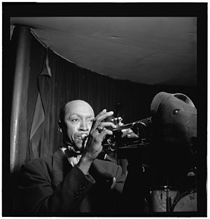 Bill Coleman - Bill Coleman at Cafe Society, between 1946 and 1948. Photo: William P. Gottlieb.