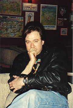Bill Hicks no clube de comédia The Laff Stop em Austin, Texas (1991)