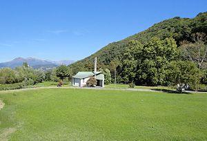 Bioggio - Church and countryside near Bioggio