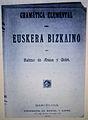 Bizkaieraren Oinarrizko Gramatika. Sabin Arana Goiri (1888).jpg