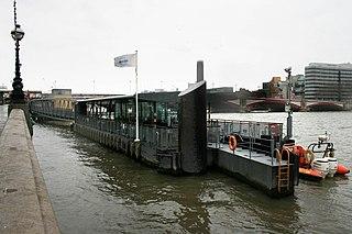pier on the River Thames near Blackfriars