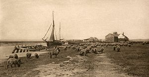 Peter Henry Emerson - Blackshore, River Blythe, Suffolk from Emerson's illustrated book 'Pictures of East Anglian Life', 1888