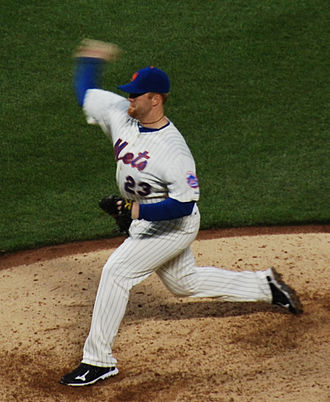 Blaine Boyer - Boyer pitching for the New York Mets in 2011