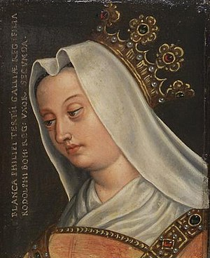 Blanche of France, Duchess of Austria - 16th century painting by Anton Boys
