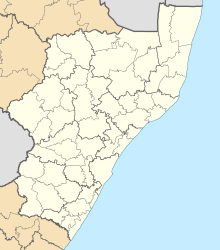 Blank map of KwaZulu-Natal (2011).svg