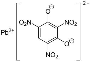 Lead styphnate - Image: Bleistyphnat