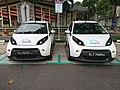 BlueSG cars at Ang Mo Kio CC station.jpg