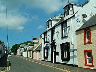 Kirkcolm village in Dumfries and Galloway, Scotland, UK