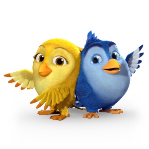 Carrington College (US) - Carrington College mascots Blue and Goldie