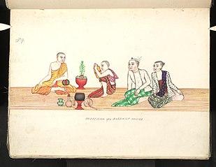 Profession of a Buddhist novice