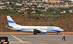 Boeing 737 ES-ENH Madeira Funchal airport 2016 1.jpg
