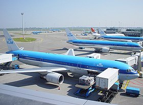 Boeing 767s of KLM at Amsterdam Airport Schiphol.jpg
