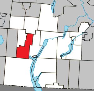 East Bolton, Quebec - Image: Bolton Est Quebec location diagram