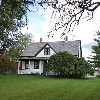 Bonar Law - Bonar Law's home in New Brunswick where he lived until the age of twelve. The house overlooks the Richibucto River