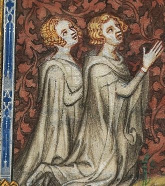 Psalter of Bonne de Luxembourg - Bonne of Luxembourg with her husband Jean