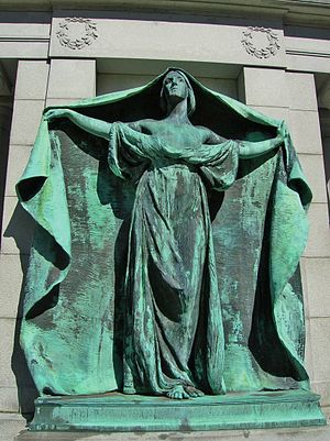 Lowell Cemetery - Bonney Memorial (1898), Francis Edwin Elwell, sculptor; Henry Bacon, architect.