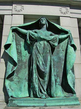 Lowell Cemetery - Bonney Memorial (1898), Francis Edwin Elwell, sculptor; Henry Bacon, architect.