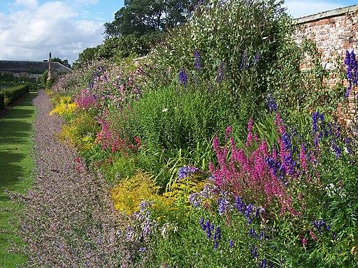 Border at Oxburgh Hall - panoramio