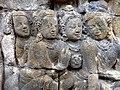 Borobudur - Divyavadana - 067 W, King Bimbisara receives King Rudrayana's Jewel Offering (detail 1) (11707147806).jpg