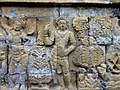 Borobudur - Divyavadana - 108 E, The Shipwreck and Maitrakanyaka meets the four Nymphs (detail 2) (11705444164).jpg