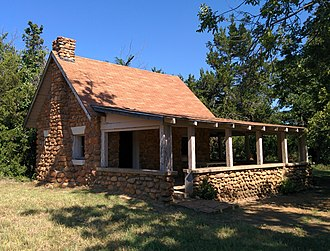 National Register of Historic Places listings in Comanche County, Oklahoma - Image: Boulder Cabin Wichita Mountians