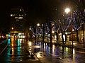 Boulevard du Musée à Chambéry sous la pluie au feu vert (2018).JPG