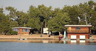 National Register of Historic Places listings in Adams County, Colorado - Image: Brannan Sand and Gravel Pit No. 8 Lake Sangraco Boathouse Complex