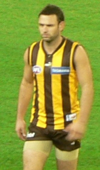 Brent Guerra - Guerra playing for Hawthorn during the 2007 AFL season