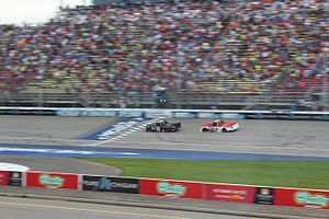 Brett Moffitt - Moffitt beats Timothy Peters to the line, capturing his first NASCAR touring-series victory in the Career For Veterans 200 at MIS.