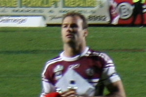 Brett Stewart (rugby league) - Stewart playing for the Sea Eagles in 2008