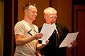 Brian Brushwood and Evan Bernstein at Dragon*Con 2011.jpg