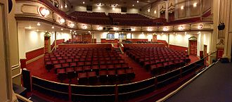 Bridlington Spa - Bridlington Spa Theatre Auditorium showing the centre aisle in the stall introduced in May 2016