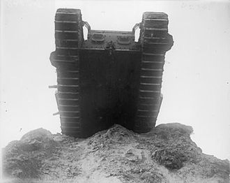 Western Front tactics, 1917 - Image: British Mark IV tank at Wailly