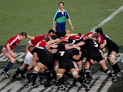 The British and Irish Lions against the All Blacks in 2005