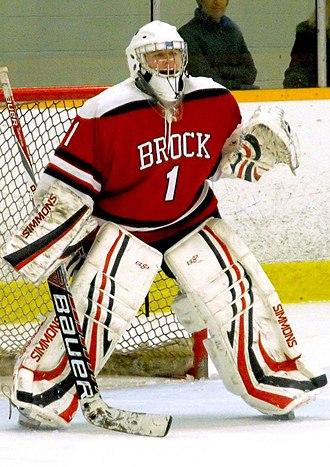 Brock Badgers - Brock Badgers women's goalie 2014-15 season.