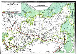 Megaproject - The Trans-Siberian Railway and other railways in the Asiatic part of the Russian Empire in 1900—an important 19th-century megaproject
