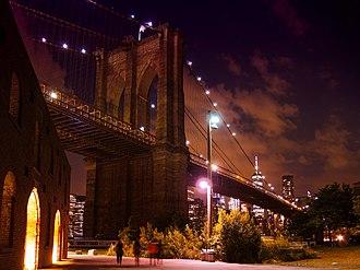 Brooklyn Bridge Park - Brooklyn Bridge at Night taken from Brooklyn Bridge Park