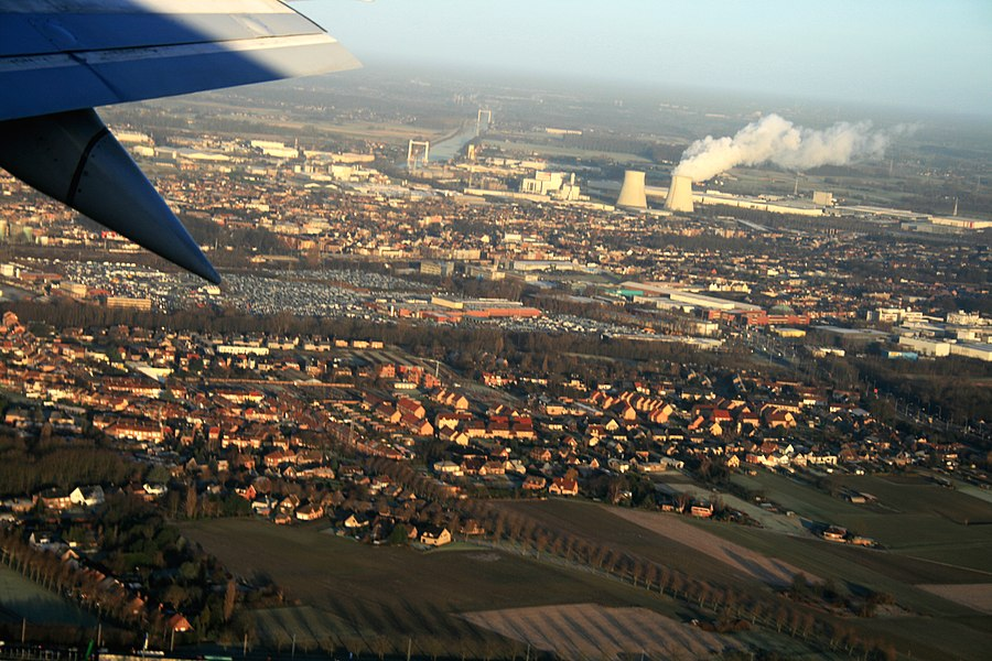 Air - view on Brussels city, Belgium