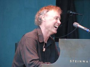 Bruce Hornsby performing on a Steinway concert...