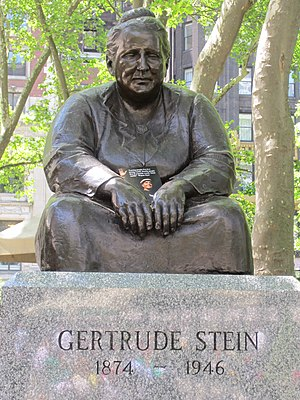 Gertrude Stein (Davidson) - The sculpture in 2014