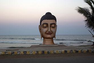 Bheemunipatnam - Buddha Statue at Bheemunipatnam Beach Road