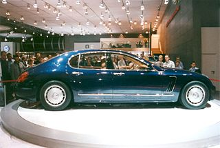 Concept car jointly developed by French automobile manufacturer Bugatti and Italian design house Italdesign in 1999