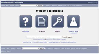 Bugzilla - Image: Bugzilla Screenshot