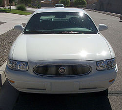"""Buick """"dollar grin"""" and Trishield in a Buick Lesabre"""