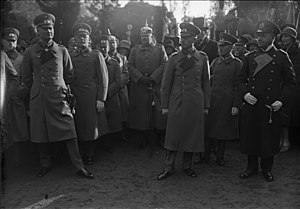 Kurt von Hammerstein-Equord - From left to right, first row: Kurt von Hammerstein-Equord, Prince Eitel Friedrich of Prussia, General Otto Hasse and Admiral Erich Raeder in Potsdam (October 1929)