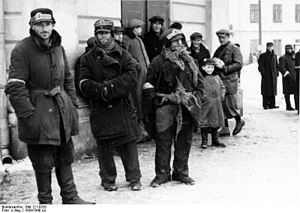 Kielce Ghetto - Kielce Jews in winter 1939, photographed by a Bahnhof officer