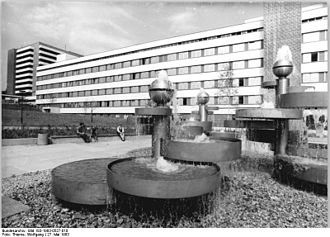 Clinic - Polyclinic in Karl-Marx-Stadt, German Democratic Republic.